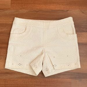 Anthropologie Shorts - Anthropologie cream shorts